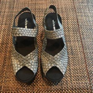 White Mountain Shoe Silver Weave Shoes